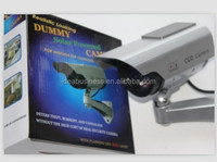 Solar Powered CCTV Outdoor ccd decoy Security Fake Dummy Camera With IR Nightvision Infrared Red Lights