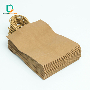 China factory Custom printed recycled biodegradable retail grocery brown kraft paper bakery bags for bread food packing