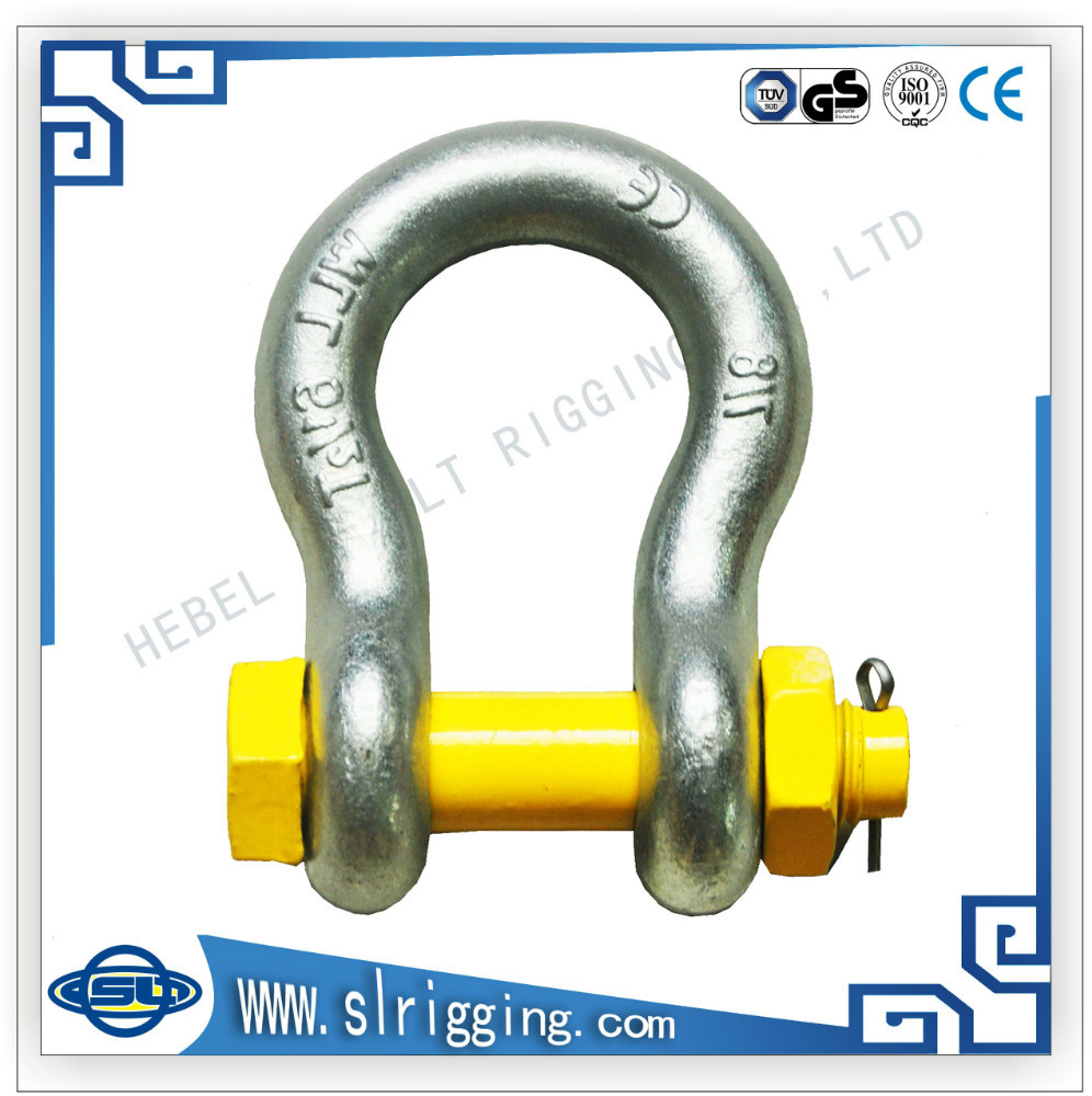 DSL Marine hardware stainless steel US type D bow shackle