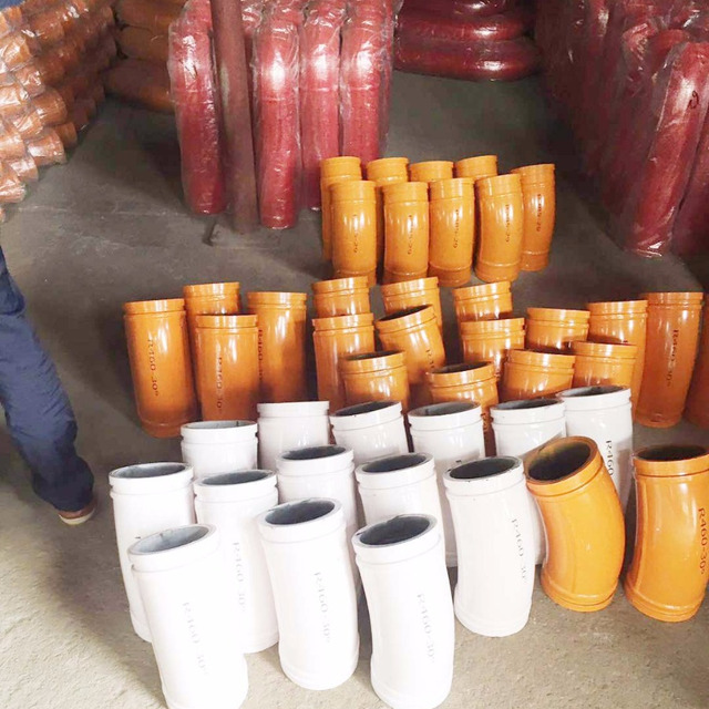 China machinery ihi concrete pump parts cast iron elbows 90