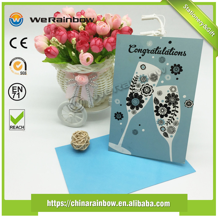 Manufacturer Supply Custom High Quality Handmade Festival greeting Cards