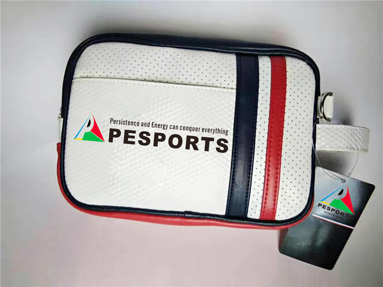 wholesale golf bag custom golf ball bag crystal PU Leather golf pouch