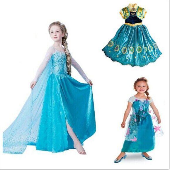 8eaf314230294 frozen Baby Girls Dress Elsa Anna Party Dress Kids Princess Dress Children  Clothing Vestidos Fever Elsa Dress Girls