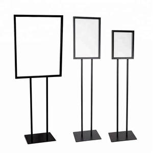 Floor Standing Poster Display Stand Metal Bulletin Sign Holder