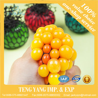 Hot Sale Anti Stress Face Reliever Grape Ball Autism Mood Squeeze Relief Healthy Funny Tricky Toy