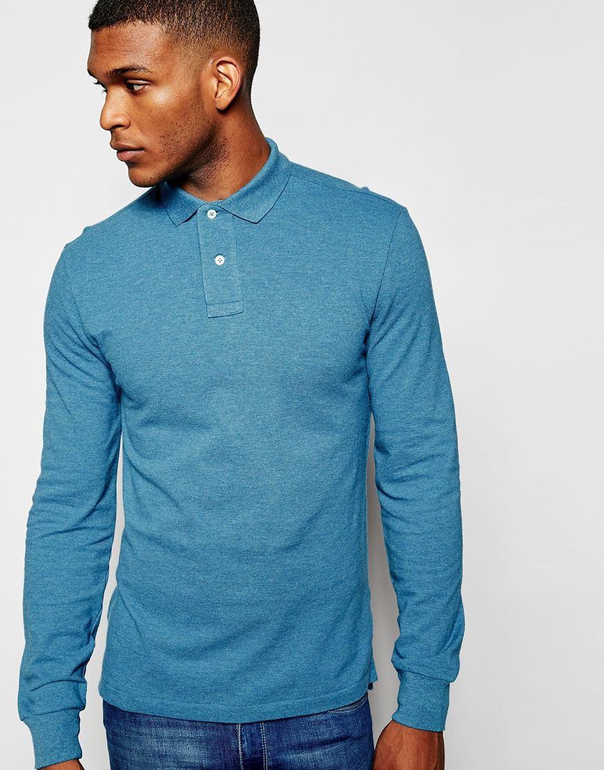 Long Sleeve Boys Polo Shirts Slim Fit Office Polo Jacket Uniform