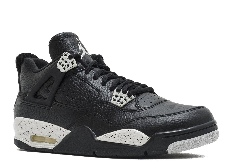 5013c4cca490 Get Quotations · Jordan Air 4 Retro LS Oreo Men s Shoes Black Tech Grey- Black 314254-