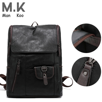 72d2b54d0c10 Waterproof Sports School Leather Laptop Backpack Bag
