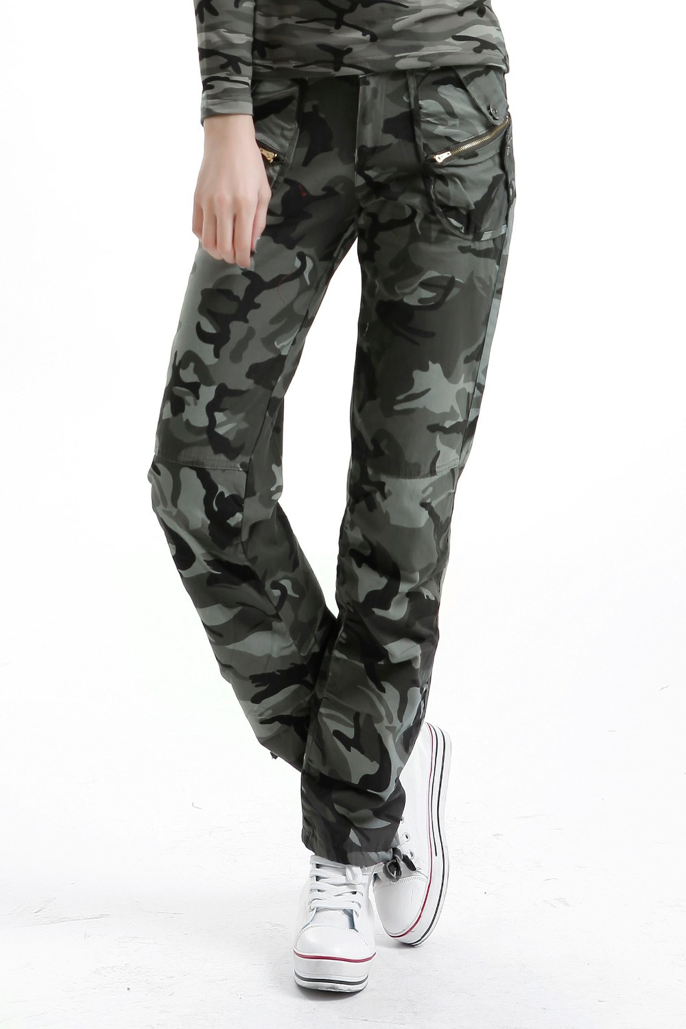 ebfe1f4e24cc3 Get Quotations · Free Shipping New Hot women camo pants for women army  fatigue pencil pants camouflage skinny jeans