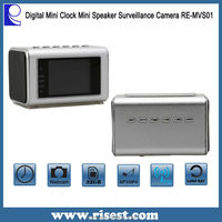 High Quality Mini Hidden Camera Web Cam with Night Vision for Surveillance in Speaker and Clock