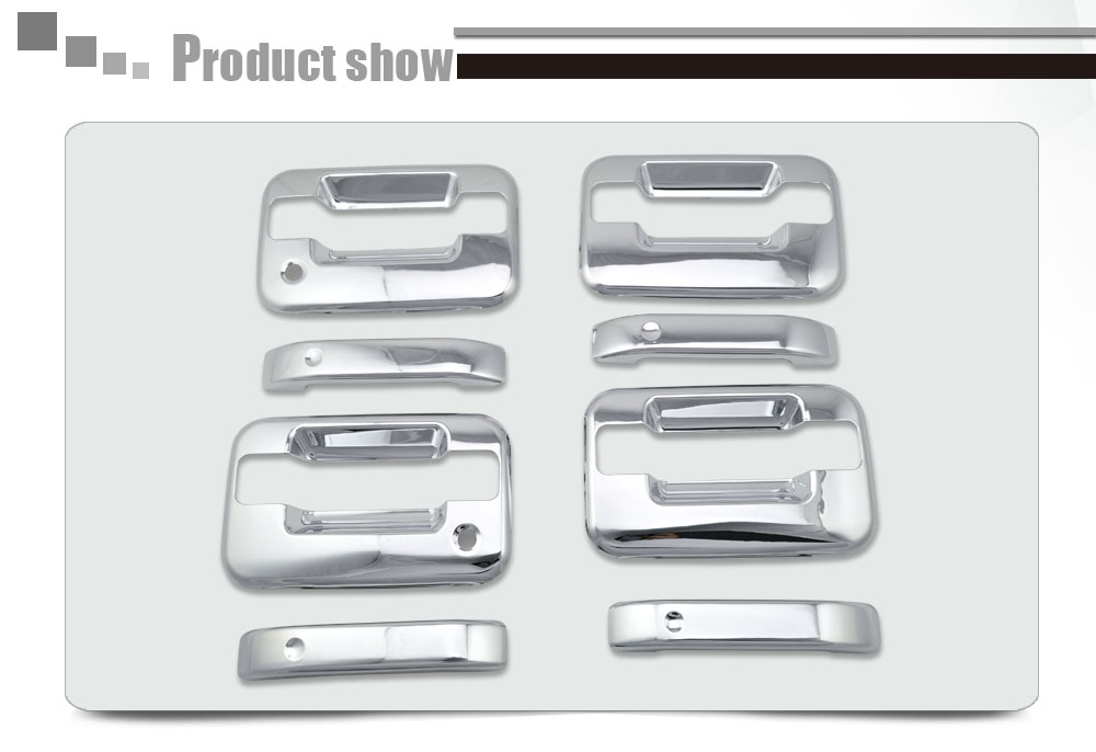 2004-2015 F150 Truck Accessories 4D Door Handle Covers ABS Chrome With PSKH No Key Pad