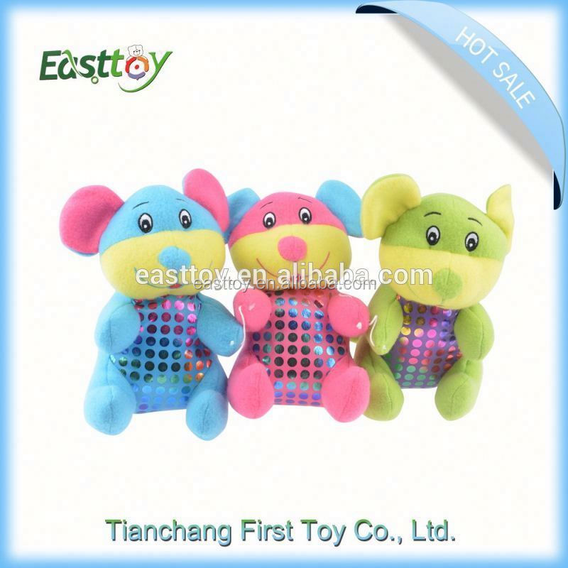High quality custom round plush dog toy