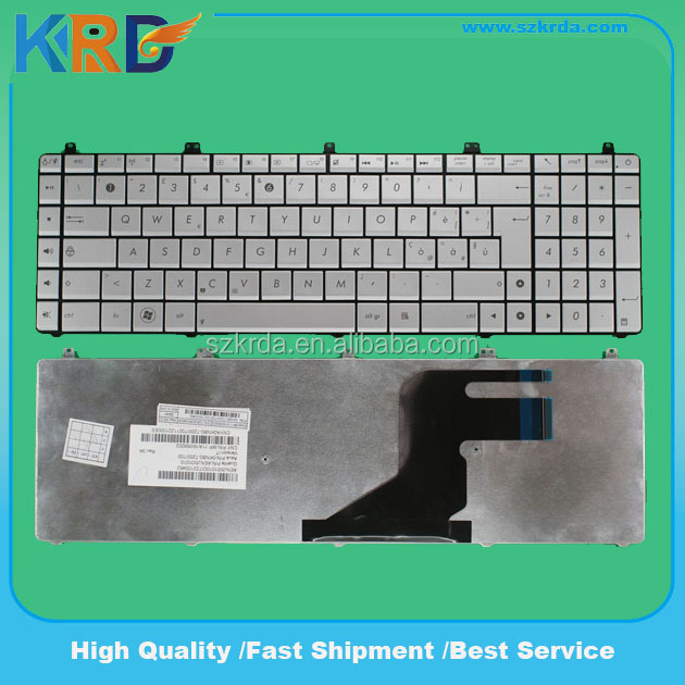 Genuine Laptop keyboard for ASUS N55 N57 N55S silver keyboard layout Italian IT