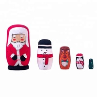 DIY Toys Gifts Wooden Matryoshka Russian Dolls