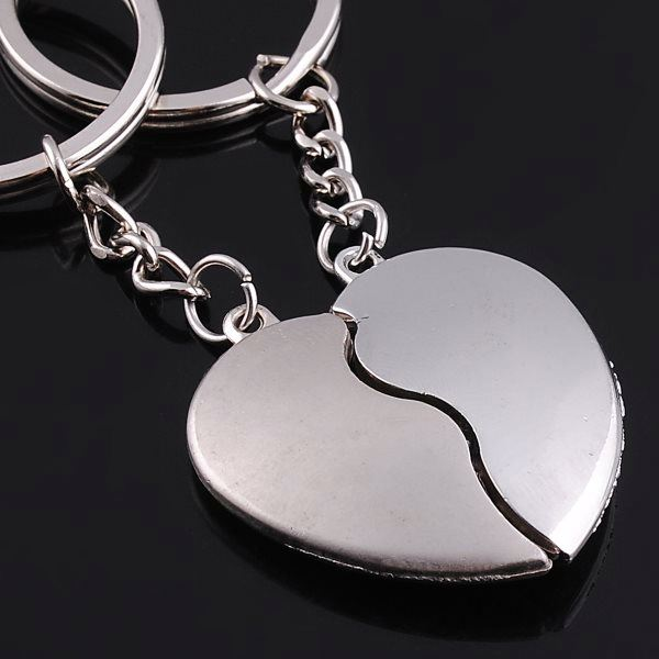 Promotion keyring manufacturers metal magnetic love you heart couple keychain for gifts wedding