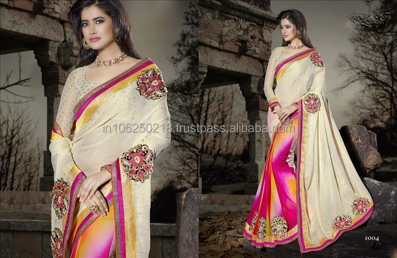 Latest 2014 indian bollywood traditional saree R7487
