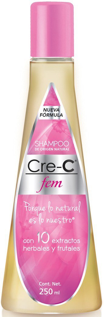 Shampoo Cre-C Fem 8.46 Ounce (Pack of 1) – Official New Formulated Champu Cre-C Fem with Ingredients Including Ginseng - Official Crece Fem Hair Growth Stimulating Shampoo for Women – Anti-Hair Loss Shampoo – For Hair Loss, Scalp Treatment and Dandruff Relief (Pack of 1)