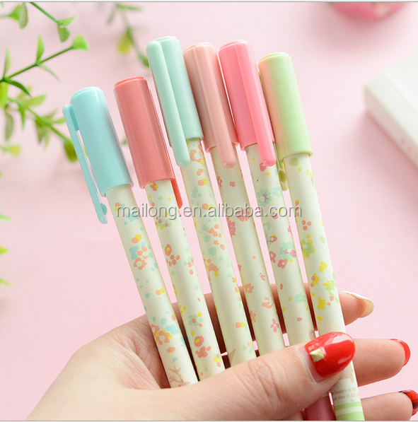 Han edition student stationery office supplies Pure and fresh and small broken flower neutral pen pen custom pen set PN5844