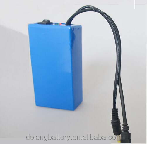 12V dc lithium ion rechargeable battery pack 6.8A/10A/20A/30A /400ah for LED strip/panel&Camera/IP Camera
