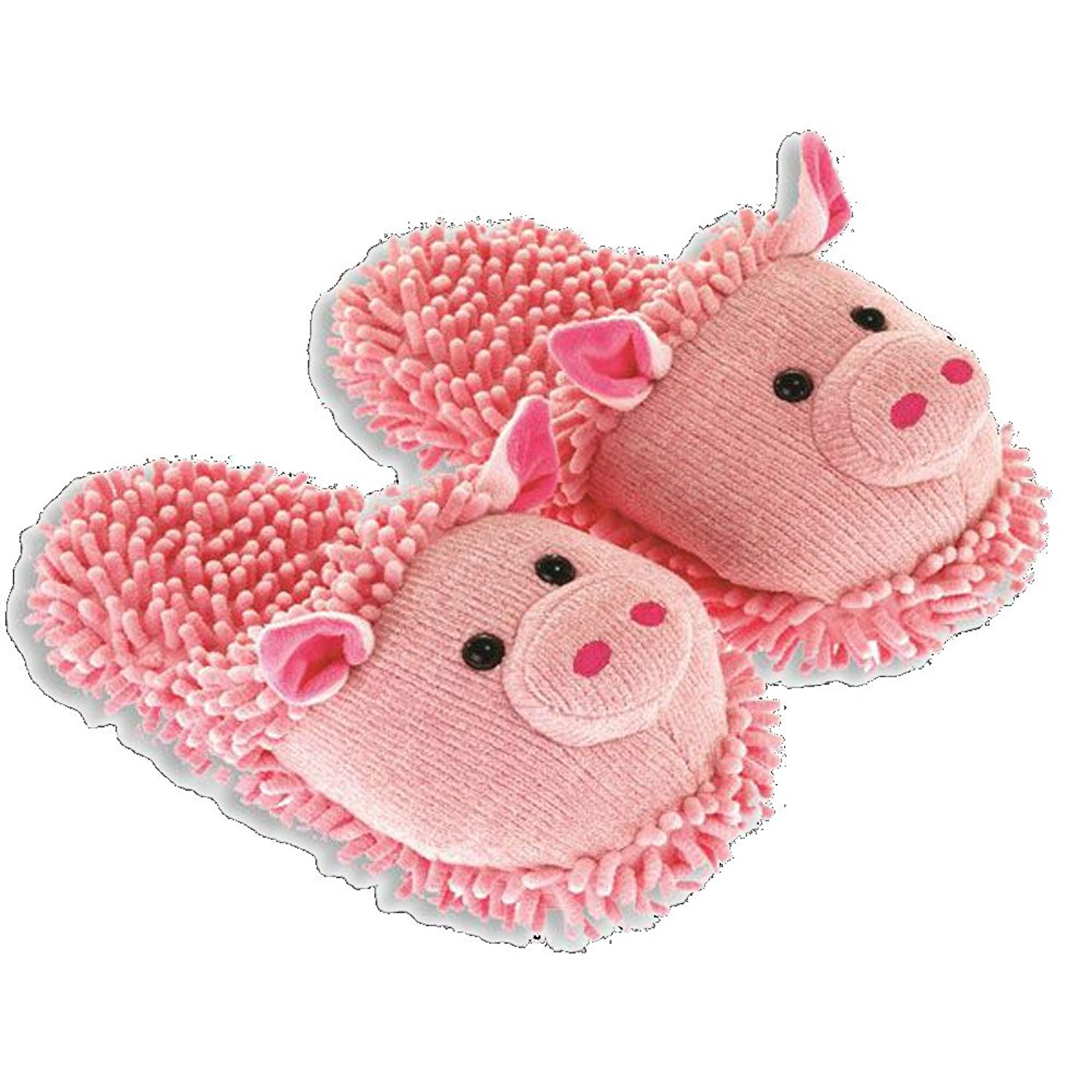 2a78c386ae6 Get Quotations · Women s Aroma Home Pink Pig Fuzzy Friends Slippers