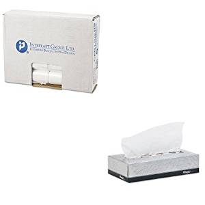KITIBSEC242406NKIM03076 - Value Kit - KLEENEX White Facial Tissue (KIM03076) and Integrated Bagging Systems EC242406N Clear 6 Mic High Density Can Liners, 24quot; x 24quot; (IBSEC242406N)