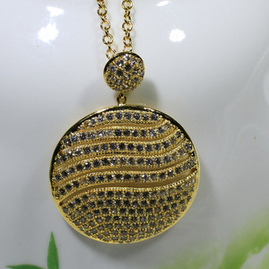 Uk Best Selling Products The size of the circular all-match clothes Pendant JX2660