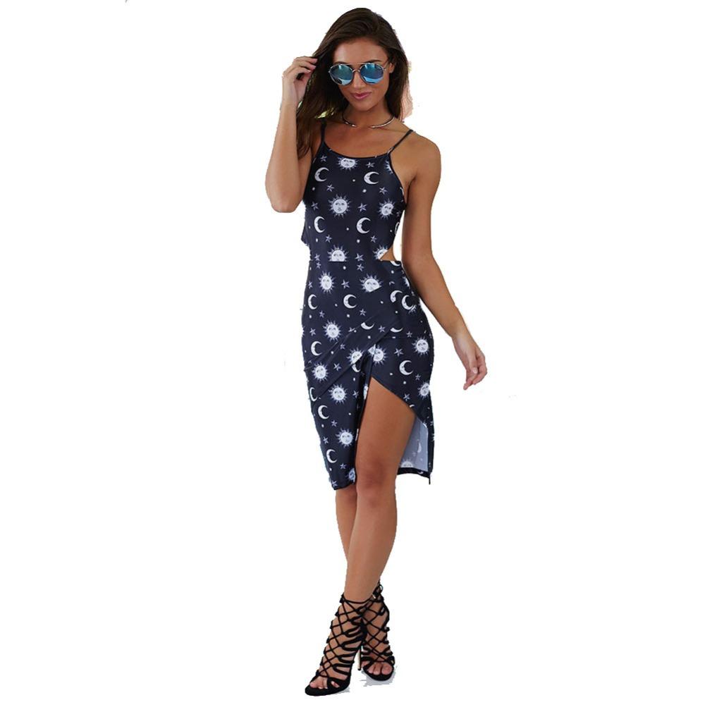 Mond Sterne Kleid: Online Kaufen Großhandel Dresses Cutouts Aus China Dresses