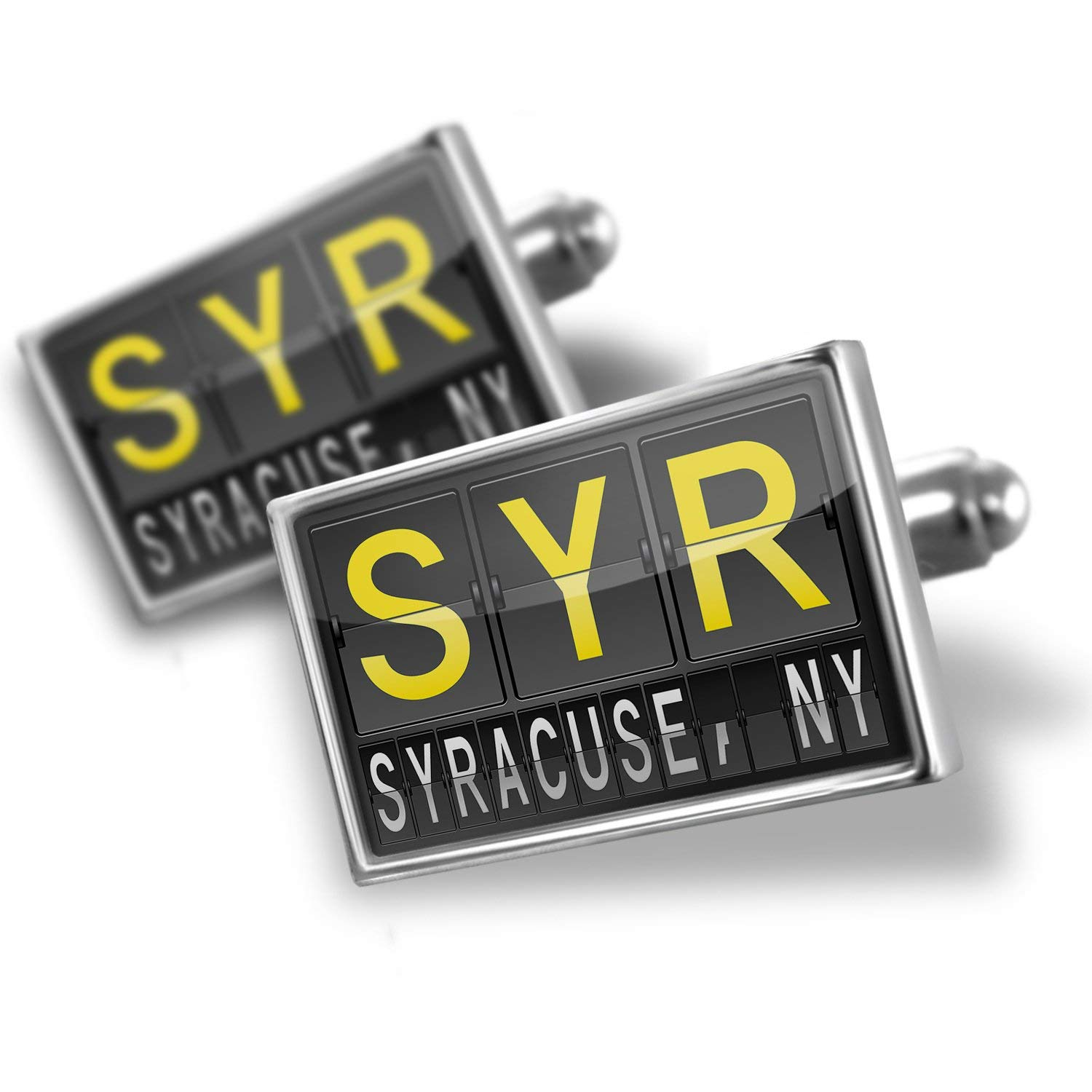 Get Quotations Neonblond Cufflinks Syr Airport Code For Syracuse Ny
