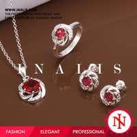 2014 new ruby diamond jewelry sets sale S572