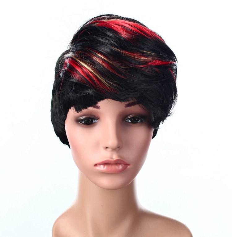 Wholesale wigs synthetic hair short synthetic ginger wigs full lace synthetic wigs for women