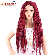 AliLeader Newest Wholesale Senegalese Twist Crochet Braid Freetress Hair, Afro Kinky Curly Freetress Bulk Hair Extension