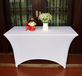 Customized Logo Printed Small Arch Spandex Table Cloth, Table Cover For IBM  Table