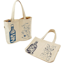 fashionable patterns canvas 6 bottle wine tote bag