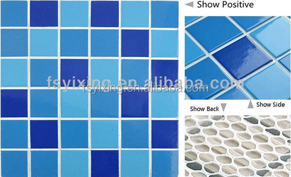 Wt16 oc ano azul piso de baldosas de cer mica vidriada - Ceramica azul para banos ...