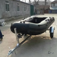 High quality inflatable boat trailer inflatable folding boat trailer inflatable jet ski trailr