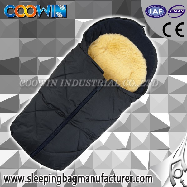 baby sleeping bag for stroller 100% real shearling lining ,baby sleeping bag for stroller, nature baby sleeping bag for stroller