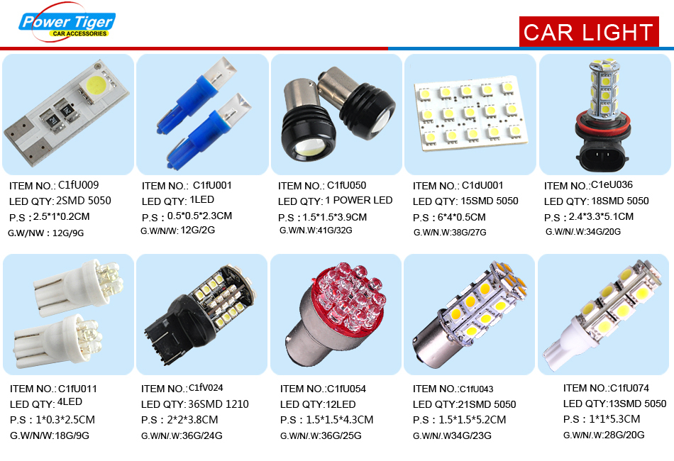 3W High Power 1156 LED Car Bulbs