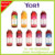 Yori plastic water bottle heat pvc shrink label