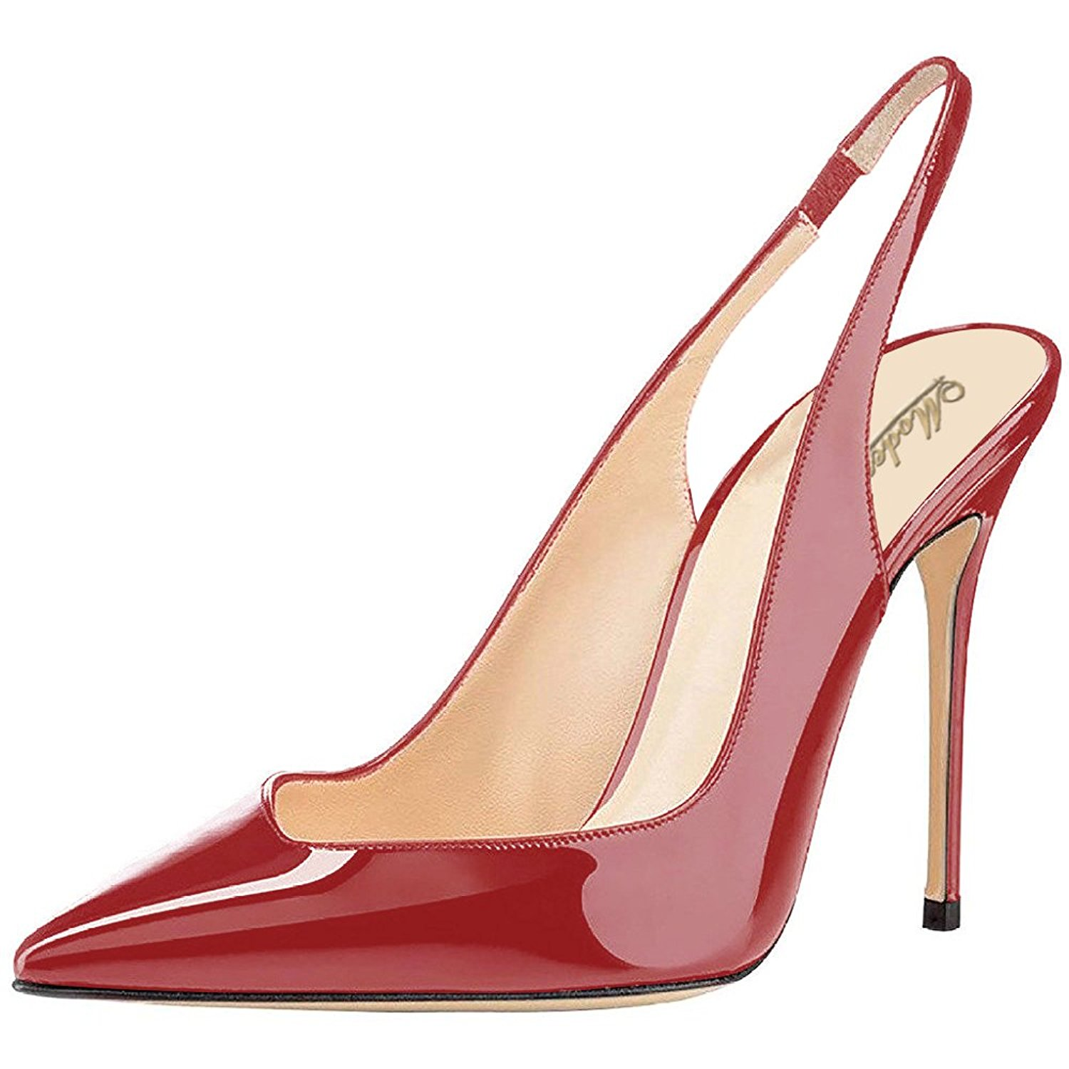 1eb0b1c2334b8 Buy Modemoven Womens Patent Leather Pumps,Point Toe Heels,Slingback ...