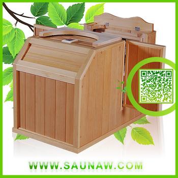 2014 gw h03 1 person mini sauna far infrared half body. Black Bedroom Furniture Sets. Home Design Ideas