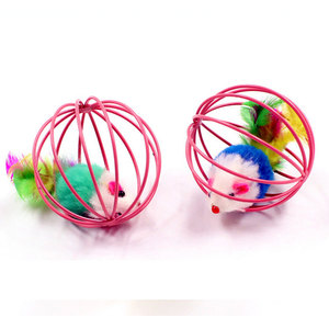 Cat Playing fun toys Interactive 6cm rat cage balls toy