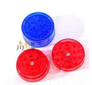 Wholesale JL-116J 4 parts High Quality Mini Acrylic Herb Grinder Intensive Diamond Teeth Tobacco Grinding Machine