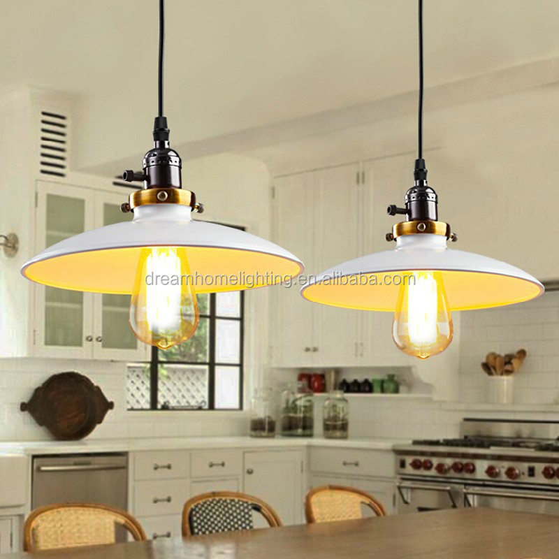 Vintage Retro Loft Pendant Light Pendant Lamp 1 Light D26CM Colorful Shades Dinning Pendant lighting