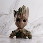 Amazon Hot Sale Cute Treeman Baby Groot Green Plants Flower Pot For Promotional Gifts
