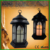 Everlasting Glow Indoor Outdoor LED Candle Lantern with Timer