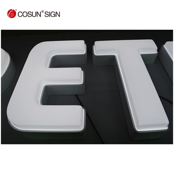 Large custom made LED plastic vacuum foaming letters signs