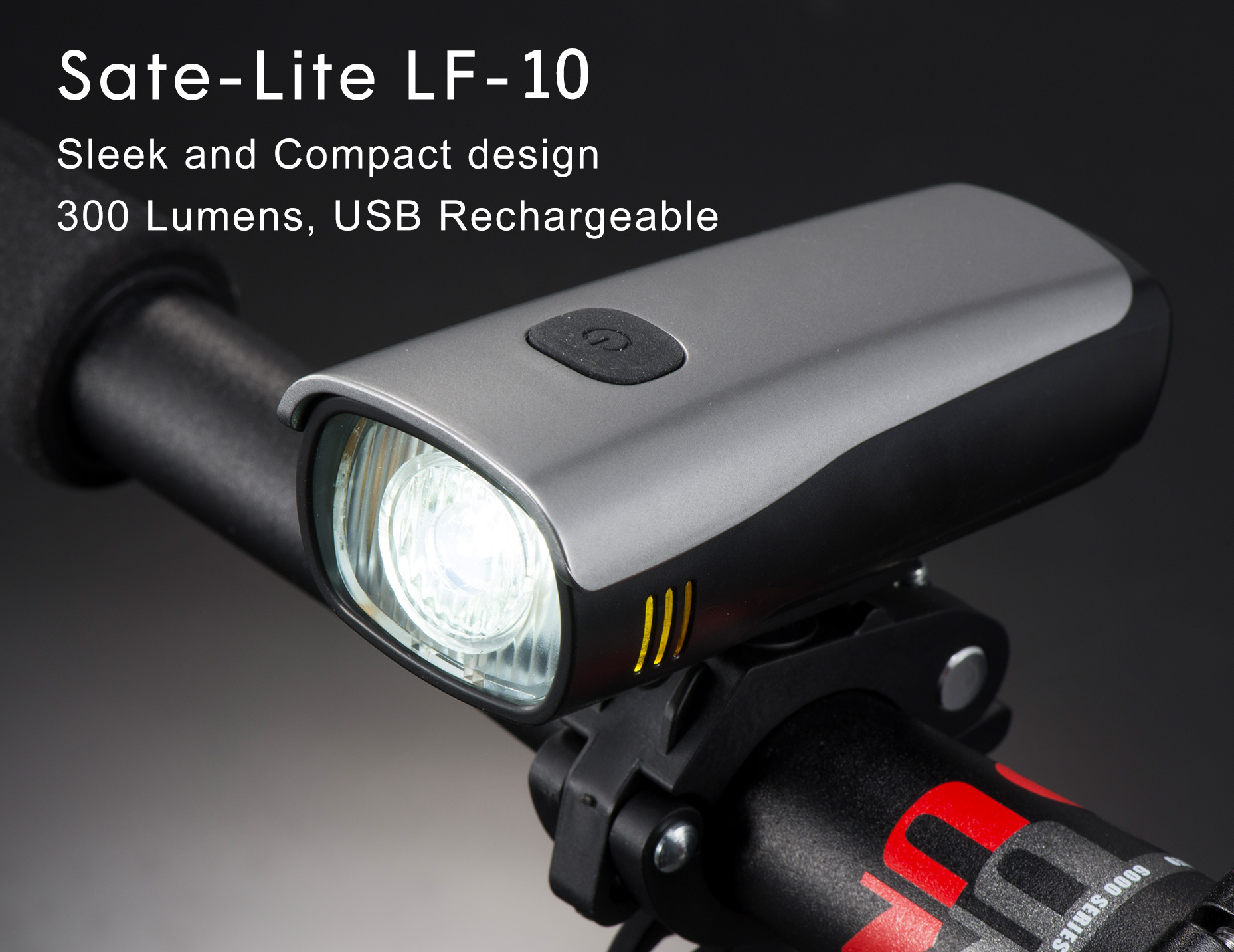 Sate-Lite StVZO approved New Bicycle Headlight with USB Rechargeable Bike Light LF-10