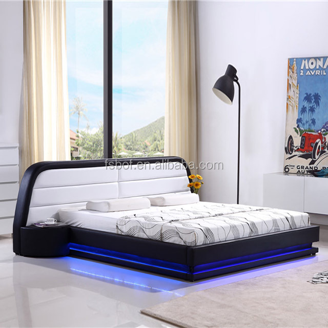 Home Furniture Led Light New Design Double Bed Ck013 - Buy New ...