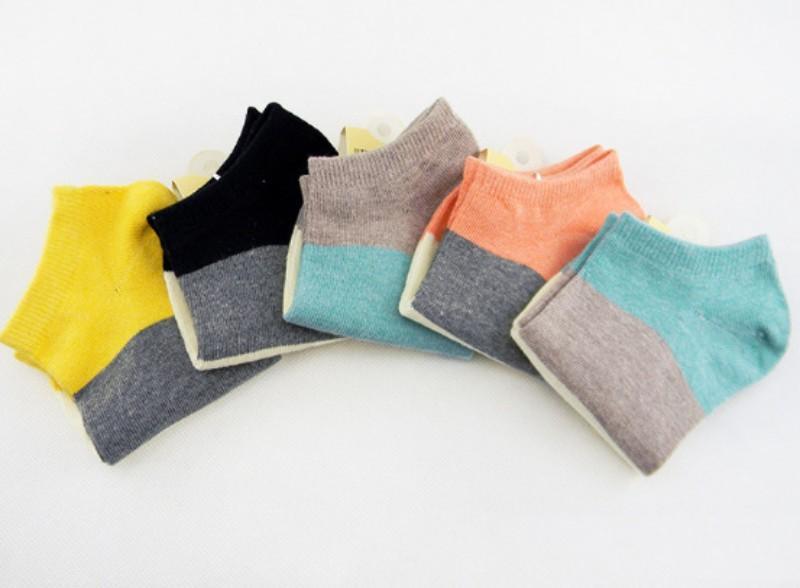 Лето женщины носки ширина ткань в полоску спорт носки женщины хлопок весна 5 pairs/lot