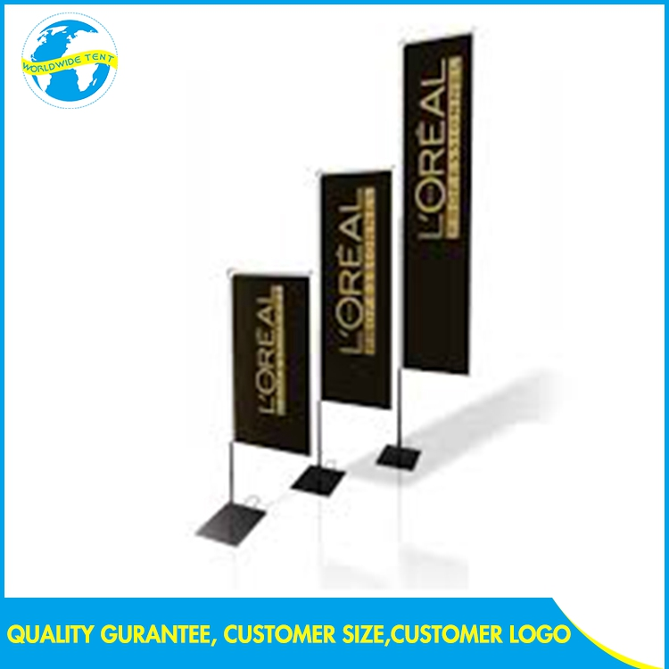 Commercial 100% Polyester Feather Rectangular Outdoor Advertise Led Display Banner Price